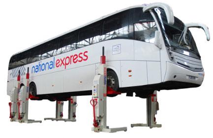 Hefbruggen voor bussen en trucks