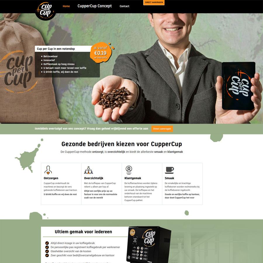 Nieuwe website Cuppercup.nl